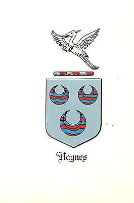 *Great Coat of Arms Haynes Family Crest genealogy, would look great framed!