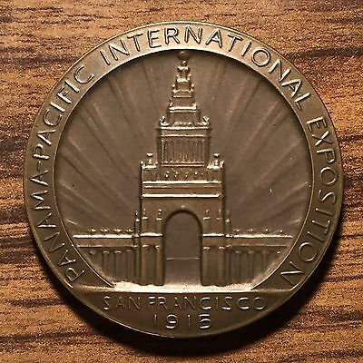 1915 Panama Pacific International Exposition Service Medal BRONZE (original Box)