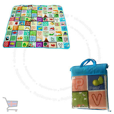 New 2 Side Kids Crawling Educational Game Baby Play Mat Soft Foam Carpet UKES