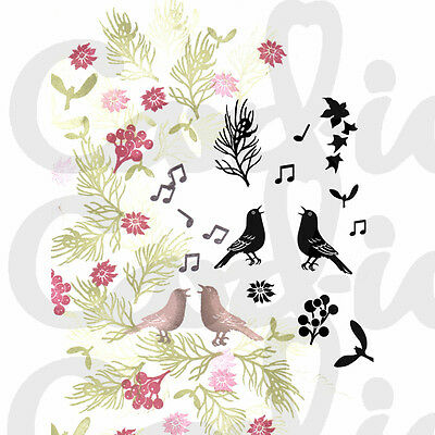 CARD-IO MAJESTIX Clear Stamps CHRISTMAS CHORUS MACH-05 11 Stamps