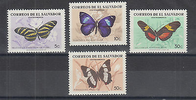 Salvador Sc 791-794 MNH. 1969 Butterflies, set of 4 Postage issues