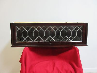 Vintage Mahogany Hale Barrister Book Case Shelf  Section Stack Leaded Glass