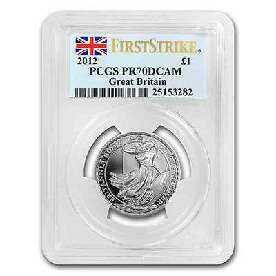 New 2012 Great Britain Silver Britannia 1/2oz First Strike PCGS PR70 DCAM Proof
