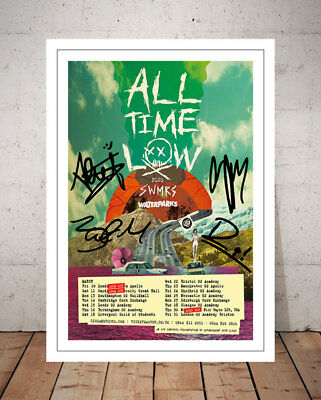 All Time Low  Last Young Renegade 2017 Concert Flyer Autographed Photo Print