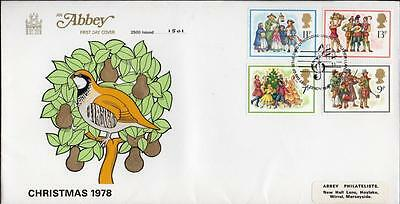 Abbey Limited Edition FDC 1978 Christmas