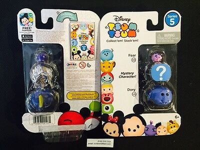 *NEW* DISNEY SERIES 5 Tsum Tsum  (3 pack) -*FEAR -mystery????-DORY* Free Ship!