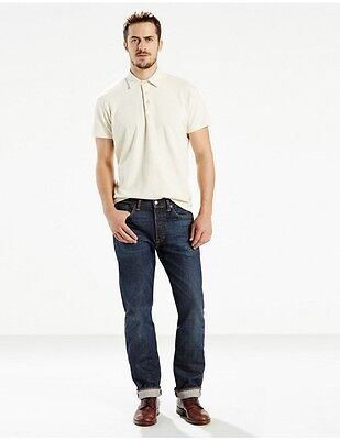 Made In USA Levis 501 Original Fit Selvedge Jeans 32x34