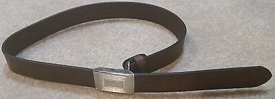 New J Crew Crewcuts Boys Leather Plaque Brown Belt Size Small