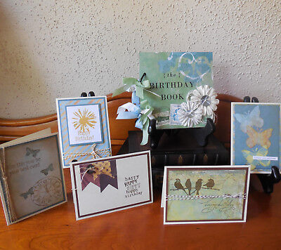 Birthday Book and Perpetual Calendar Planner with 5 Cards Handmade OOAK