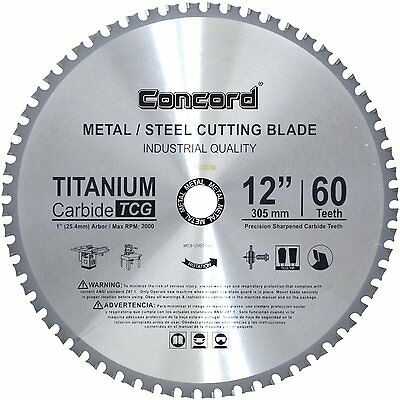 Concord Blades MCB1200T060HP 12-Inch 60 Teeth TCT Ferrous Metal Cutting Blade