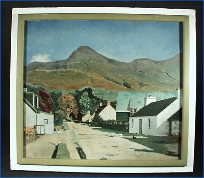 Scotland Landscape Oil Painting On Board & Frame, Signed F. Kershaw