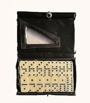 Dominoes White with Black Spots Dots Traditional Classic Game Children