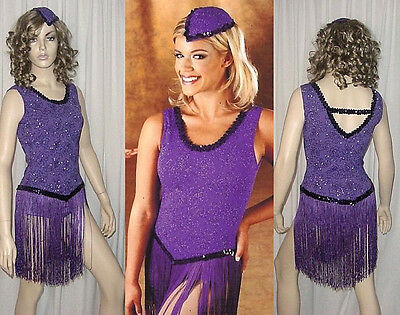 Lady Be Good Dance Costume Fringed Leotard/Hat Ice Skating Clearance Adult Large