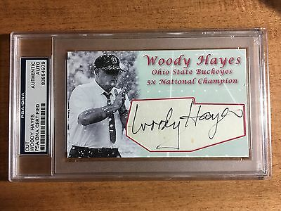Woody Hayes Signed Custom Snow Card Ohio State Football Coach Autograph PSA/DNA