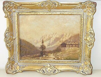 Antique Unknown Artist Signed Textured Oil Painting on Board