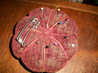 "Vintage / Antique Pin Cushion, 5"" across"