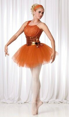 Remember Dance Costume Copper Ballerina Ballet Tutu Clearance Adult X-Large