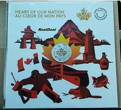 2017 Canada $3 Heart of our Nation 99.99% PureSilver with pop out the easel back