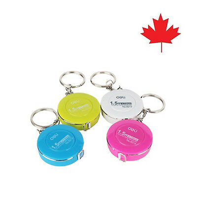 1 Piece mini plastic measuring tape ruler keyring style keychains