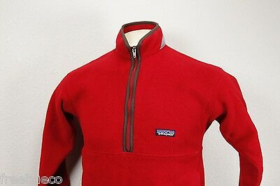 PATAGONIA Synchilla Marsupial Fleece Pullover Jacket -Real Red -Kids Large