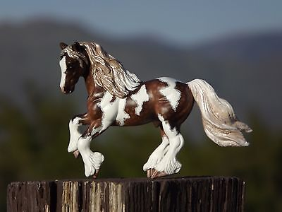 Breyer Stablemate Clydesdale custom in Silver Dapple Pinto Gypsy / Draft