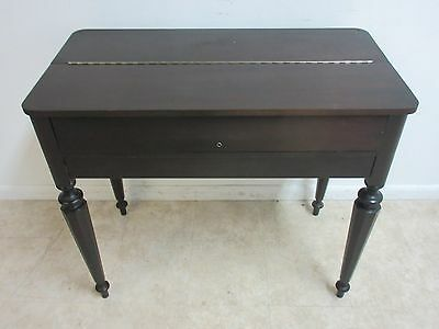 Antique Empire Mahogany Flip Top Spinet Ladies Writing Desk B