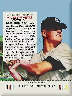 1954 Mickey Mantle Redman Postcard
