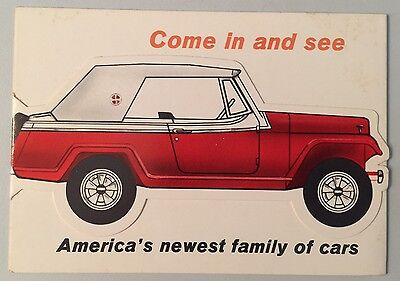 1960's ?? Jeep Jeepster and Jeepster Commando Dealer Brochure