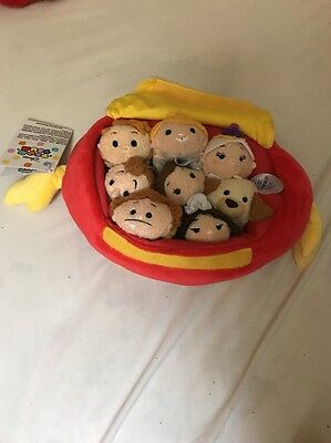 NEW AUTHENTIC DISNEY Beauty and the Beast Collection TSUM TSUM Set of 8