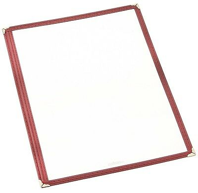 Winco Single Menu Cover 12-Inch x 9.5-Inch Burgandy