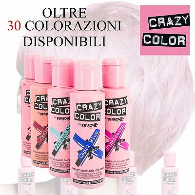 Crazy Color Tinta Semipermanente In Crema Colorazione Capelli 100Ml By Renbow