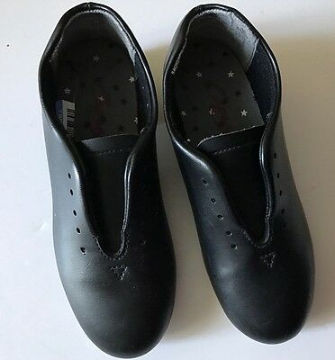Child's Capezio Jazz Tap Dance Shoes.      12 1/2 M No Shoelaces