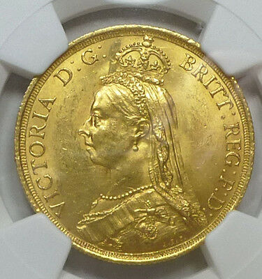 Great Britain Gold 2 Pounds 1887 MS 62 NGC
