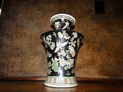 17705 Antique Japanese Large Porcelain Vase ~ Marked ~ Vintage Old Estate Item