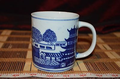 """Victoria Ware ironstone BLUE WILLOW Coffee Cup 4 1/4""""x3 1/2"""""""