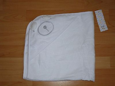 Bnwt White Soft Cotton Bear Face Hooded Baby Towel
