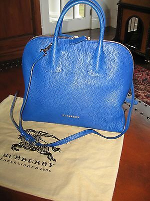Burberry Large Leather  Handbag Tote Greenwood Bowling Satchel Crossbody