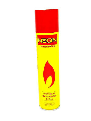 Neon Lighter Butane Can -300ml - Daily Deals - Universal Gas Lighter Refill -NEW