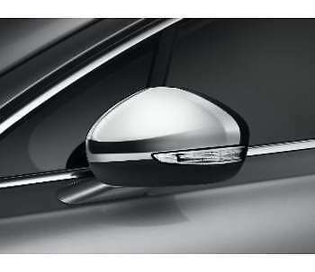 SET CHROME SIDE EXTERIOR MIRROR COVERS CAPS WINGS MOLDING TRIM for PEUGEOT 508