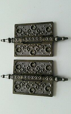 Pair Of Restored Antique 1800,s Cast Iron Door Hinges