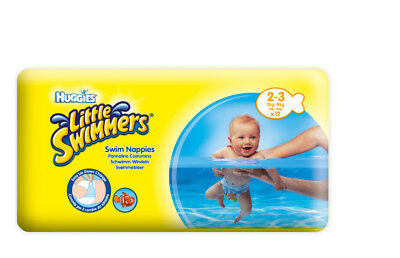 2 x Huggies Little Swimmers 2 x 12er Pack + Nemo Schwimm-Ball Size 2-3 3-8Kg