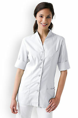 Beauticians Tunic Spa Salon Beauty Therapist Hairdresser Health Blouse Modern