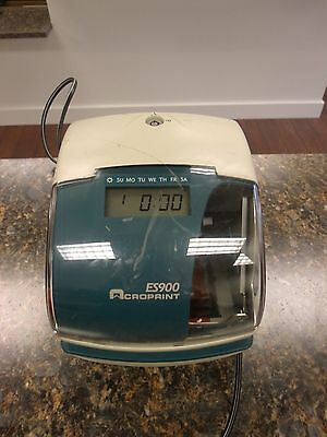 AcroPrint Es900 Stamp Time Heavy Duty  Time Clock #4sO