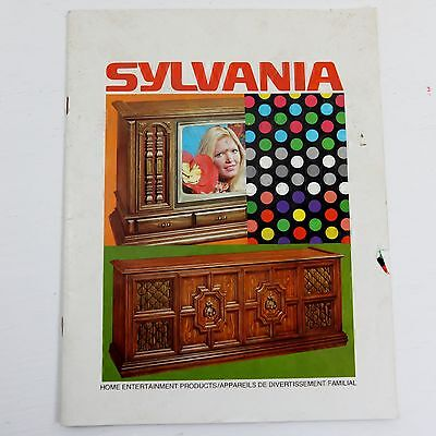 Vintage Sylvania Brochure Television & Stereo Cabinet English and French