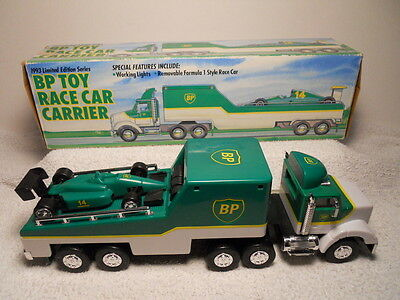 1993 Limited Edition BP Race Car Carrier w/ Working Headlights & Formula 1 Style