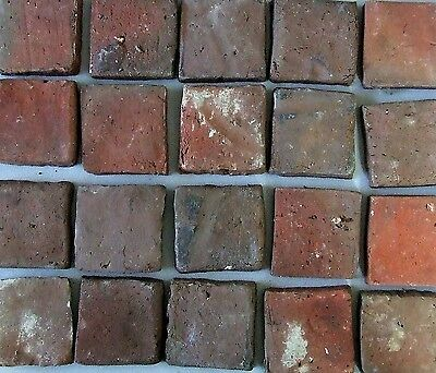 21 Antique Tiles Hand Cut Clinker Brick Arts Crafts Bungalow Fireplace Hearth