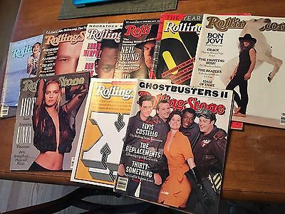Lot Of 10 Vintage Rolling Stone Magazines