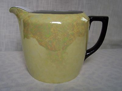 Vintage PALT Iridescent Yellow Porcelain Water Pitcher Made in Czechoslovakia