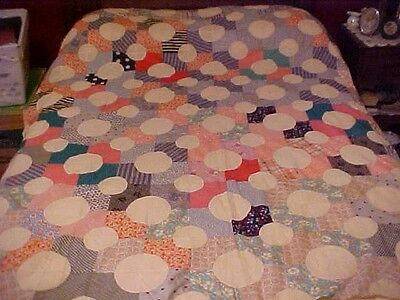 1930's Baseball or Circle Design Quilt Top