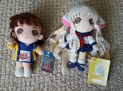 NWT Chobits Chii Seifuku & Yumi Yorokonde Happi plush doll toy Japan Anime